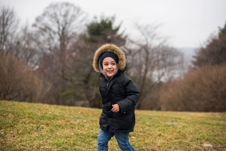 Child in parka